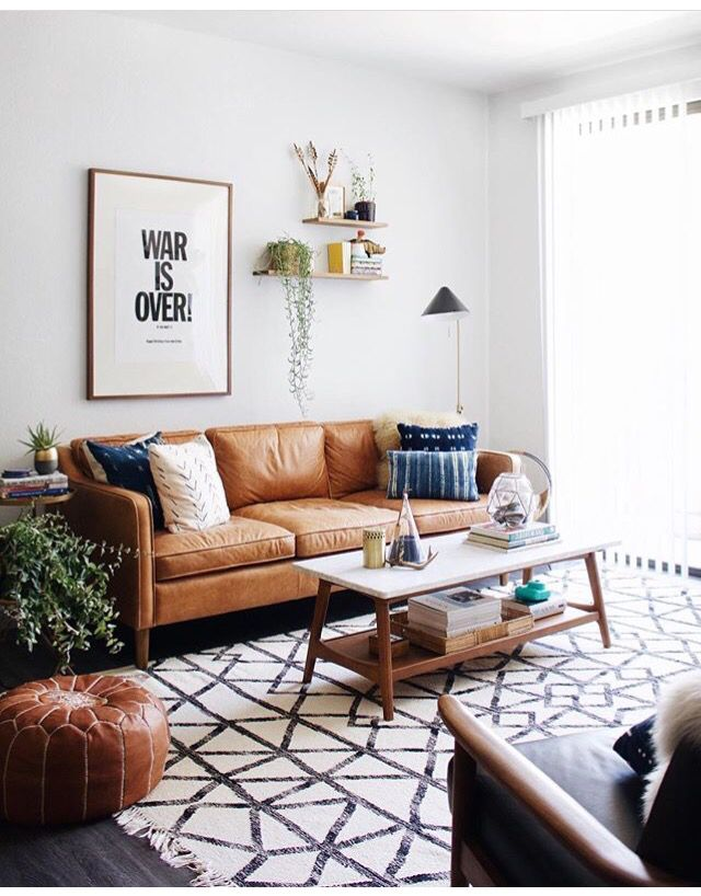Calm And Collected Living Space With Images Living Room Decor Cozy Mid Century Modern Living Room Mid Century