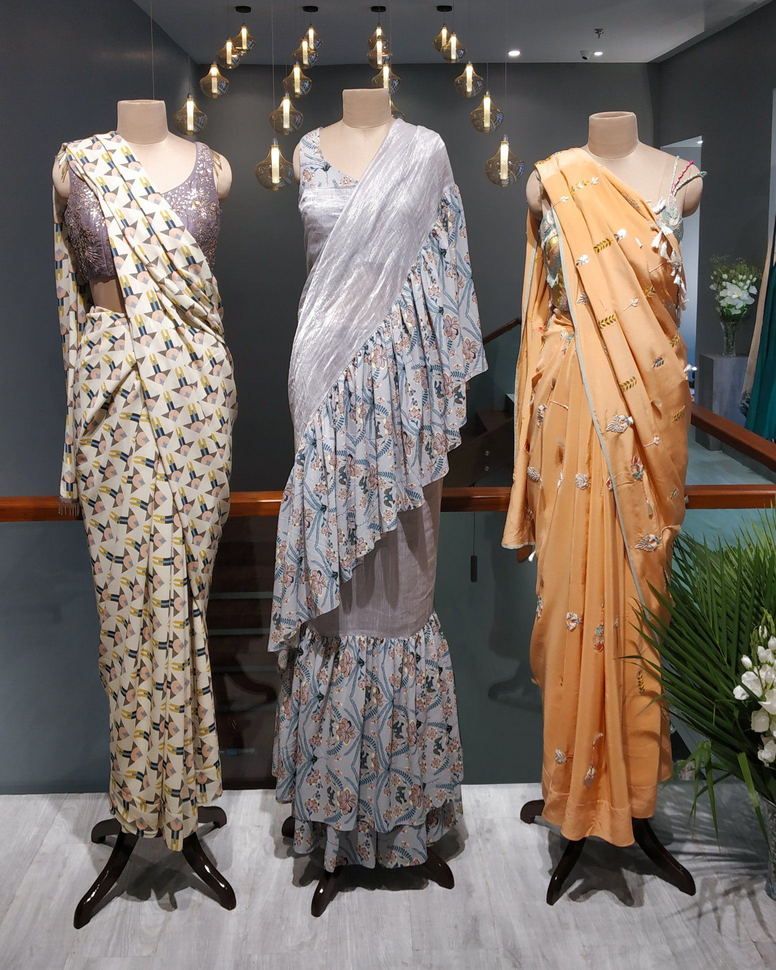 Saree For Cocktail Weddings Sangeet Events Designer Dresses Indian Saree Designs Indian Fashion