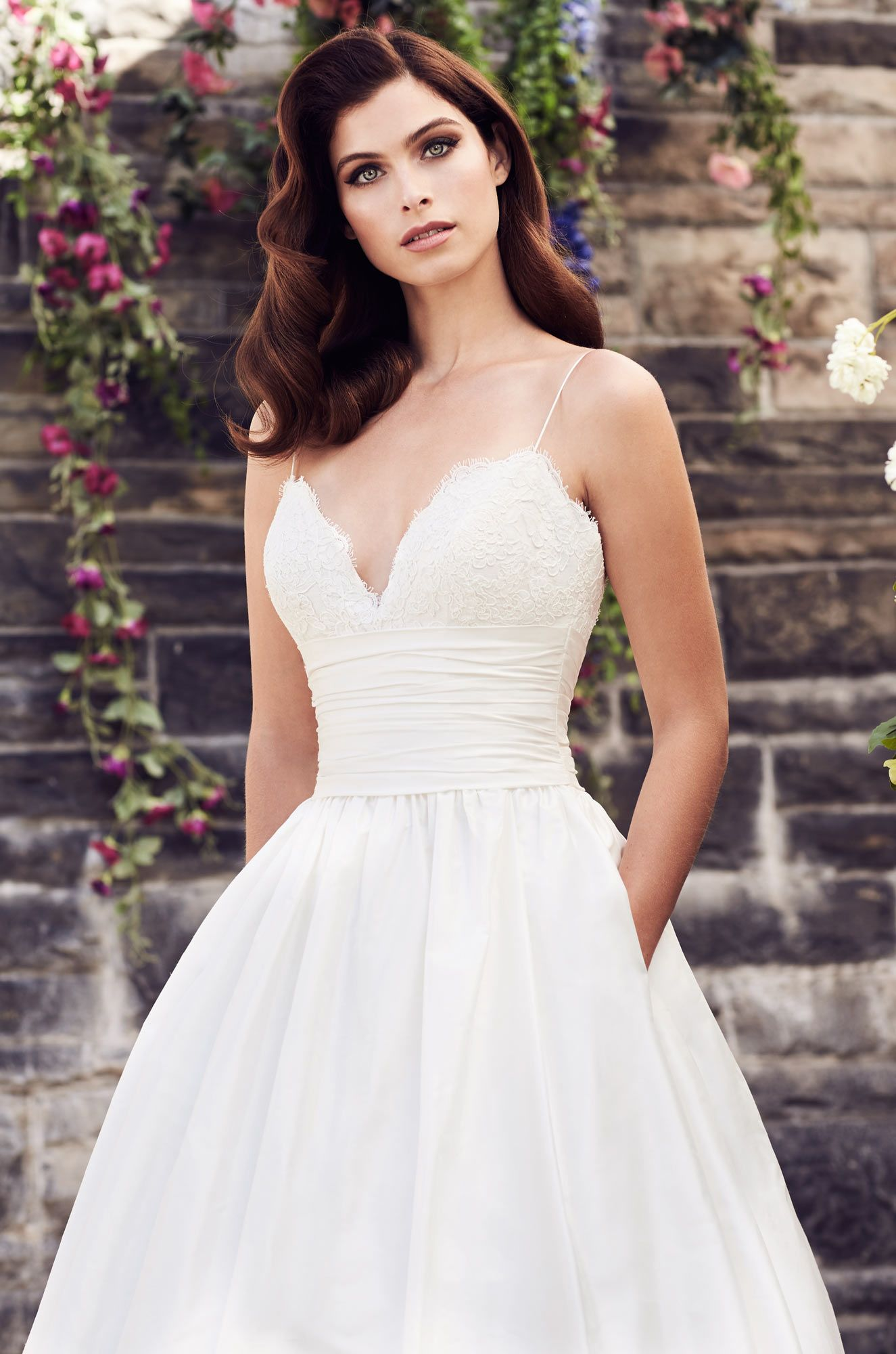 Silk aline wedding dress style dream wedding