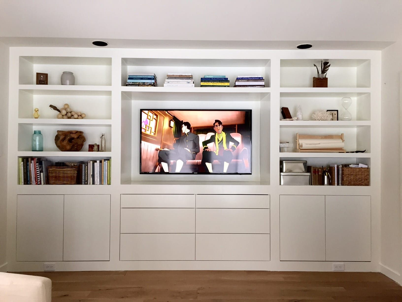 The Room Of Requirement Builtins Lauren Liess Pure Style Home -  living room built in cabinets