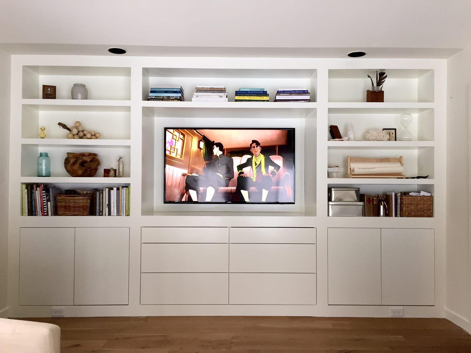 The room of requirement built ins lauren liess pure - Living room built ins ...