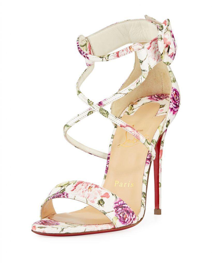 3bf53523b0 Christian Louboutin Choca Floral Snake Red Sole Sandal | Designer ...