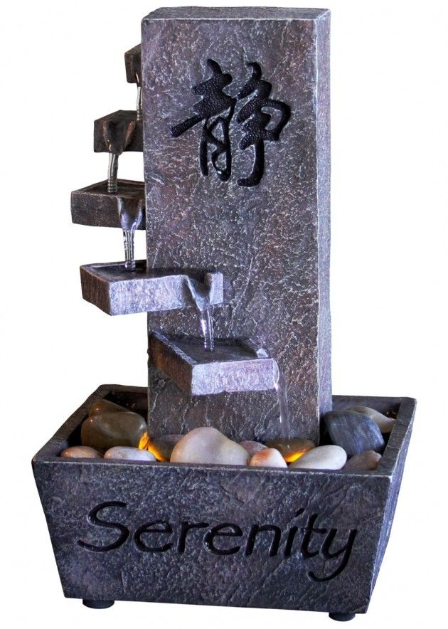 Tiered Serenity LED Indoor Fountain, Tabletop ** Quickly View This Special  Deal, Click The Image : Indoor Fountains
