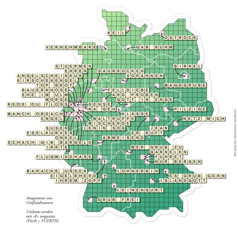 Deutschlandkarte Anagramme Deutschlandkarte Deutschland Und