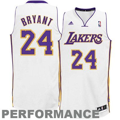 d5c52abc8a3 adidas Kobe Bryant Los Angeles Lakers Revolution 30 Swingman Performance  Jersey - White