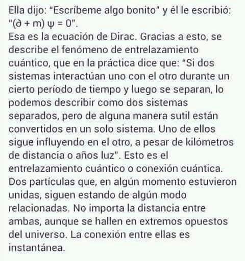 Ecuación de Dirac, entrelazamiento cuántico. Dos
