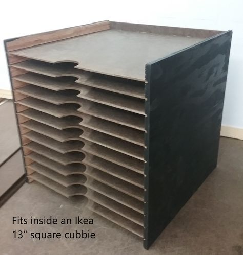 12 X12 Paper Storage Designed To Fit Inside An Ikea 13 Square Cubbie Craft Paper Storage Paper Storage Paper Storage 12x12