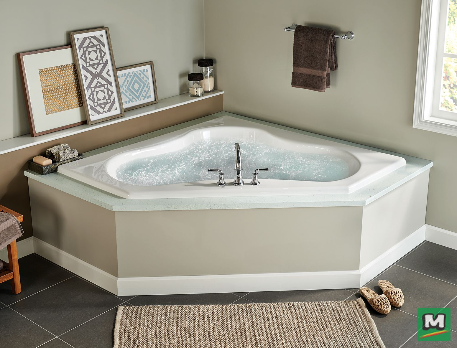 The Eljer Gemini Acrylic Whirlpool Is Perfect For A Corner Bathroom Layout It Features Three Unique Seating Posit Bathroom Layout Whirlpool Tub Bathtub Shower