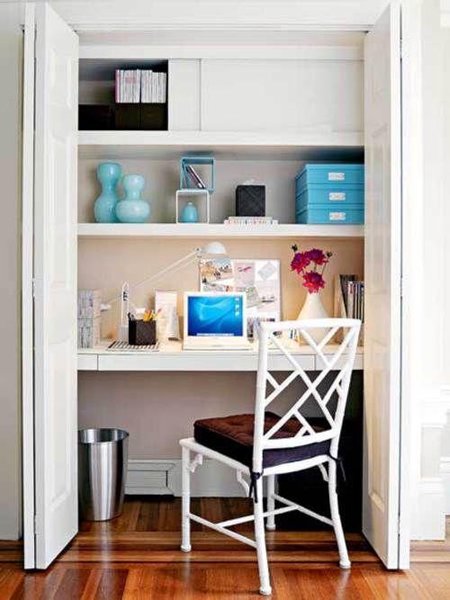 armarios guarda dvd ideas originales idea para espacios pequeos el despacho en un armario