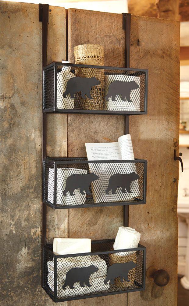 Bear Bathroom Door Shelf With