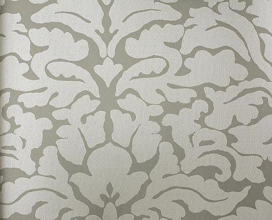 powder room imperia wallpaper contemporary damask wallpaper in grey and silver - Contemporary Damask Wallpaper