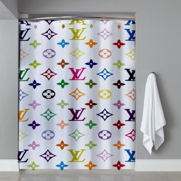 e5f046da83 Louis Vuitton Pattern Multi Color Shower Curtain