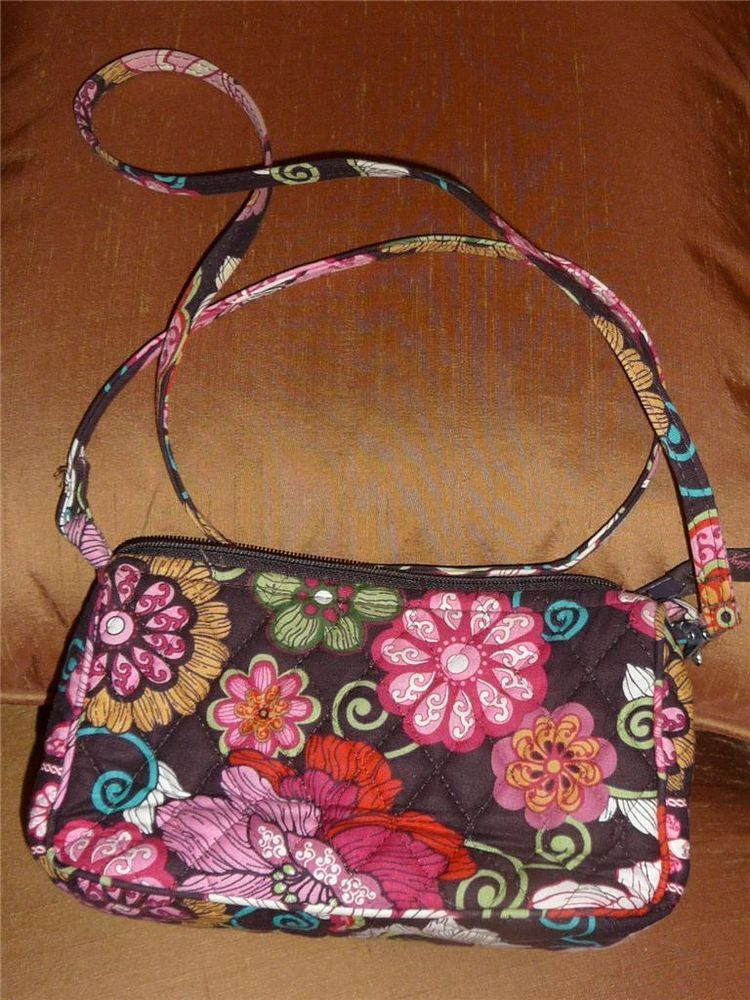 Sold Vera Bradley Crossbody Handbag Purse Amy Mod Fl Pink Made In Usa Verabradley Messengercrossbody