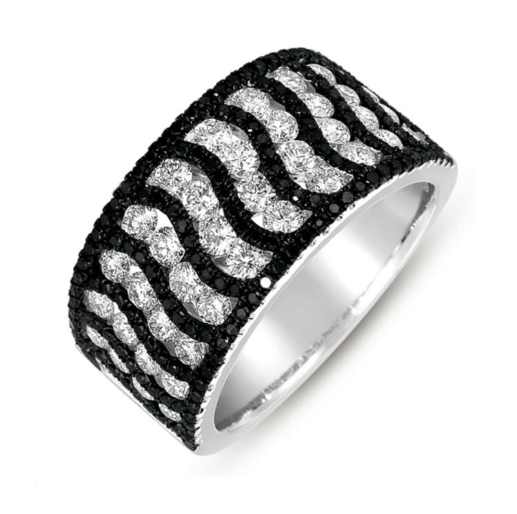Black And White Diamond Band Zebra Free Shipping Enter Code Pinterest Diamond Fashion Rings Diamond Fashion Womens Rings Fashion