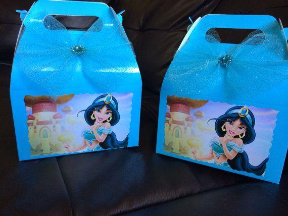 Disney Princess Jasmin Birthday favor Box by FantastikCreations