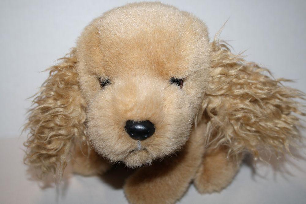 43b83c53a43 TY CLASSIC SPANKY Dog Cocker Spaniel BEANIE Buddy 1995 RARE Tan Plush Curly  Ears  Ty