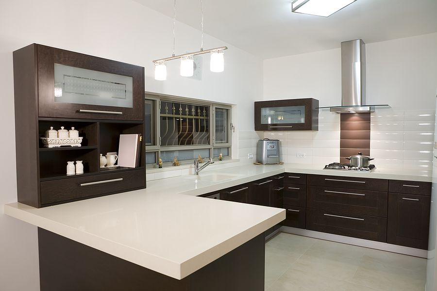 Modern Kitchen Countertop Using Quartz
