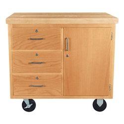 Best Mobile Storage Cabinet W Butcher Block Top Three Drawers 400 x 300