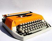 Orange Vintage Typewriter 70's