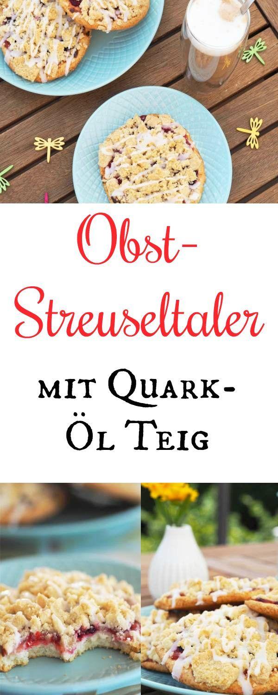 himbeer streuseltaler mit quark l teig rezept bloggerfr hling pinterest quark l teig. Black Bedroom Furniture Sets. Home Design Ideas
