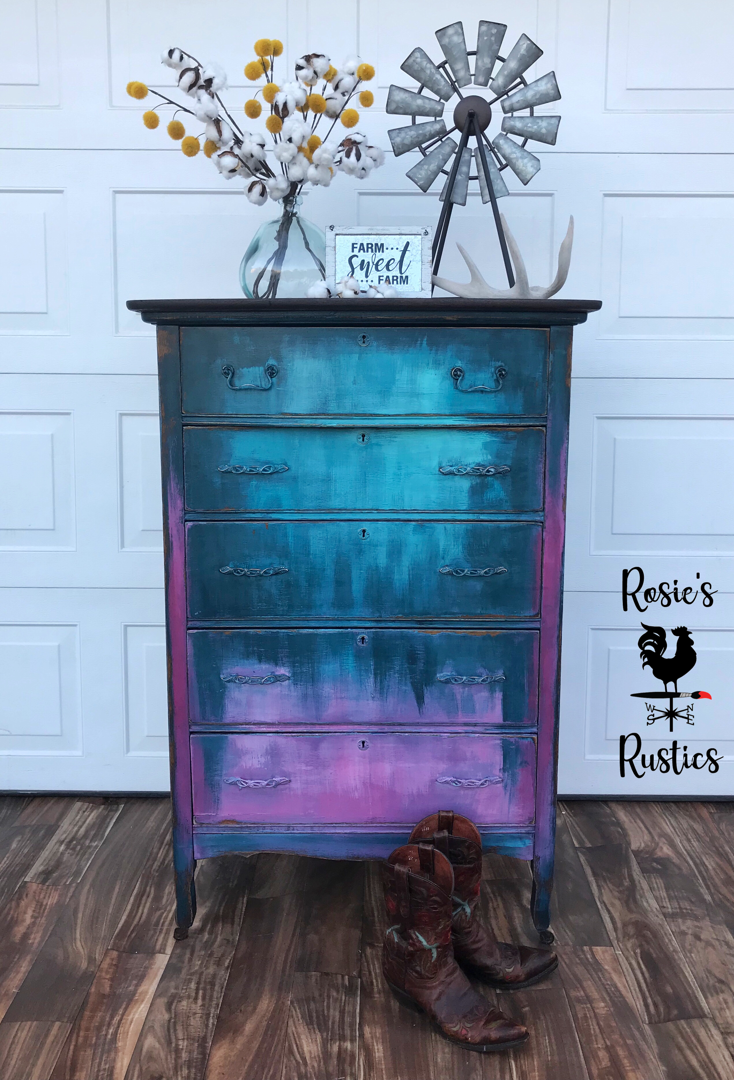 Rustic Antique Dresser Painted With Diy