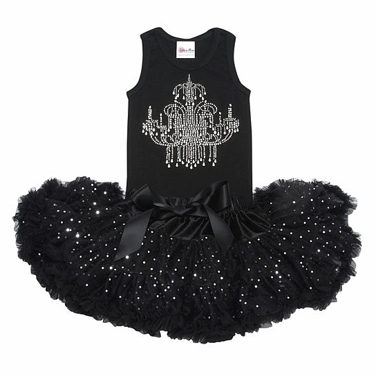 Lollipop Moon Glitzy Rhinestone Chandelier Tutu Set