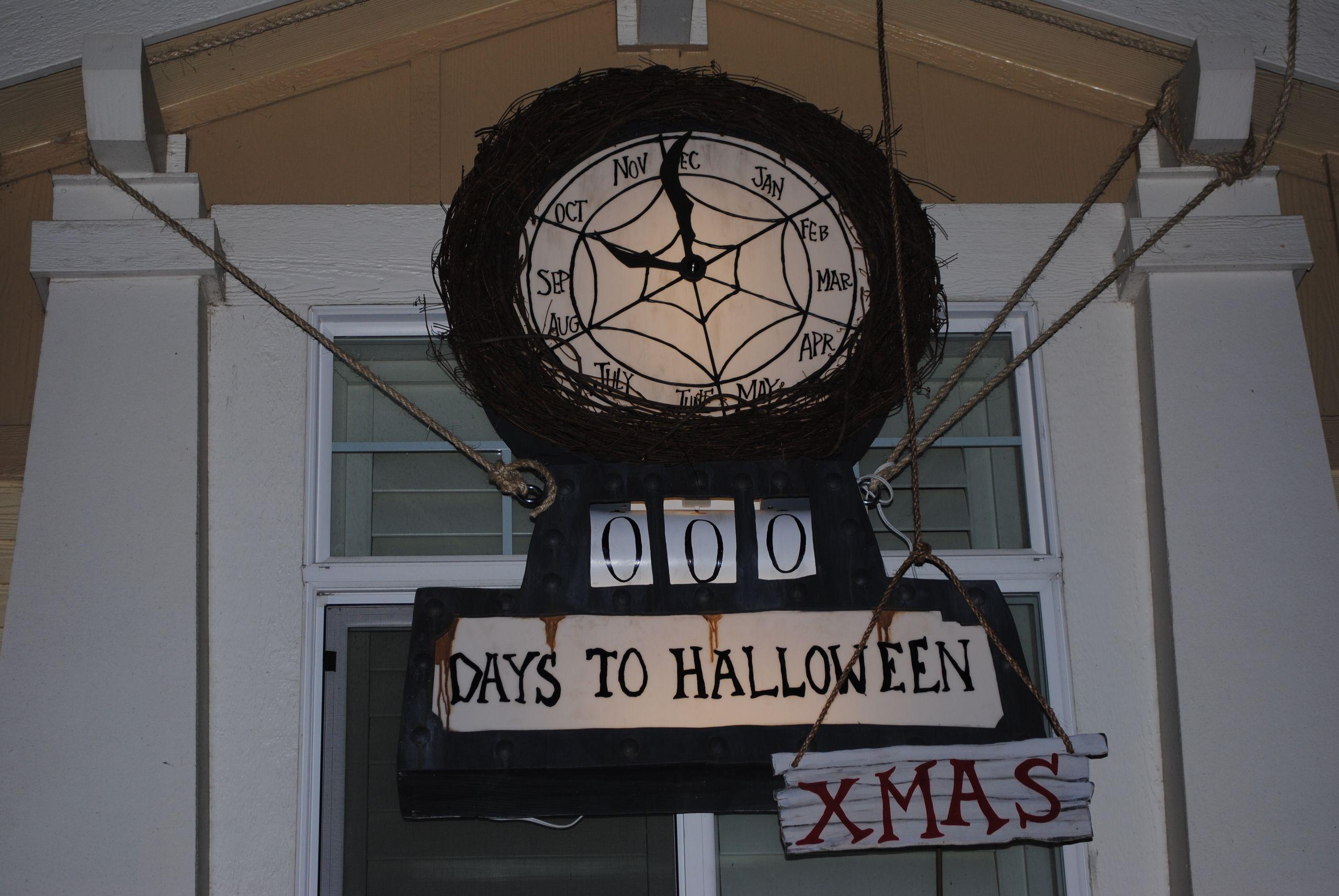 NBC Clock Halloween countdown sign, Halloween countdown