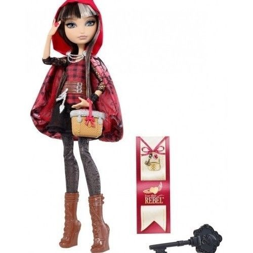Ever After High Cerise Red Hooded Fashion Doll Hair Brush Dress Stand Bookmark  #Mattel