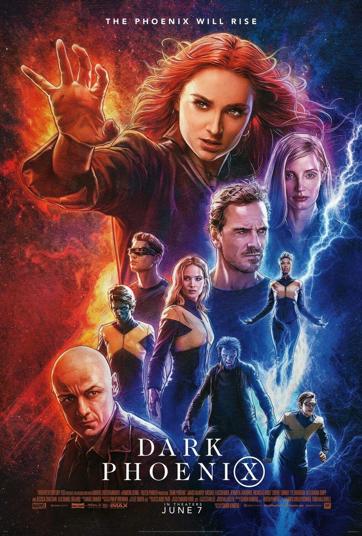 New Official Poster For X Men Dark Phoenix 2019 Dir Simon Kinberg Avengers Die Racher Marvel Avengers