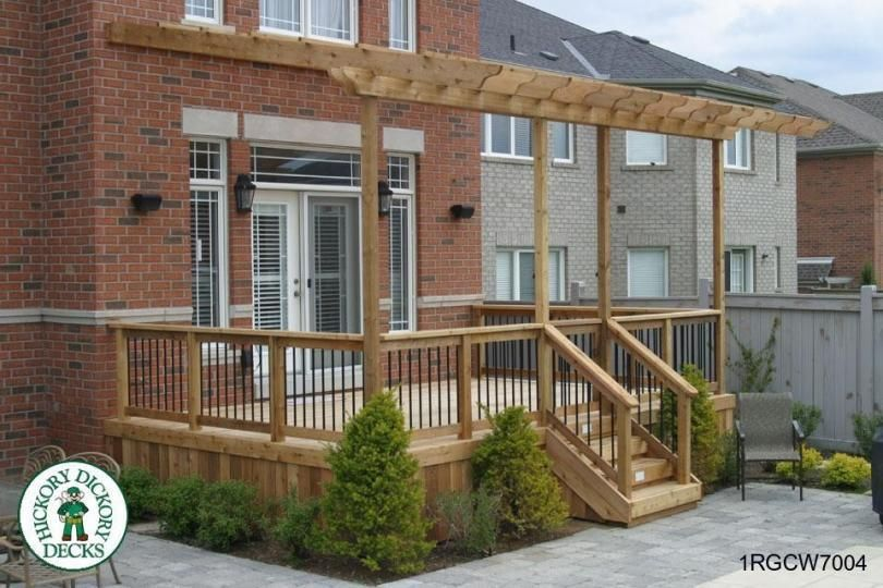 Single level, medium size deck with a pergola (#1RGCW7004). - Single Level, Medium Size Deck With A Pergola (#1RGCW7004). Home