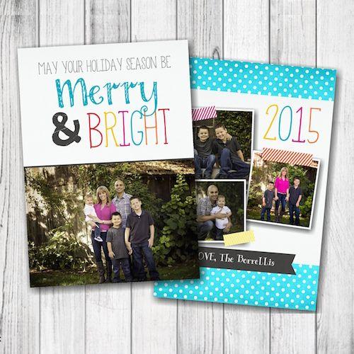 May Your Holiday Season Be MERRY  BRIGHT Christmas Photo Card \u2013 4
