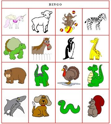 animal cards preschool   Animal Bingo in French