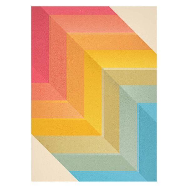 Back And Forth Abstract A1 Unframed Print (8.260 ISK) ❤ liked on ...