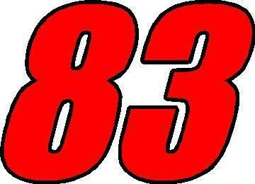 number 83-images | NASCAR Decals :: 83 Race Number 2 Color Impact Font  Decal / Sticker - | Custom window stickers, Custom window decals, Custom  car decals