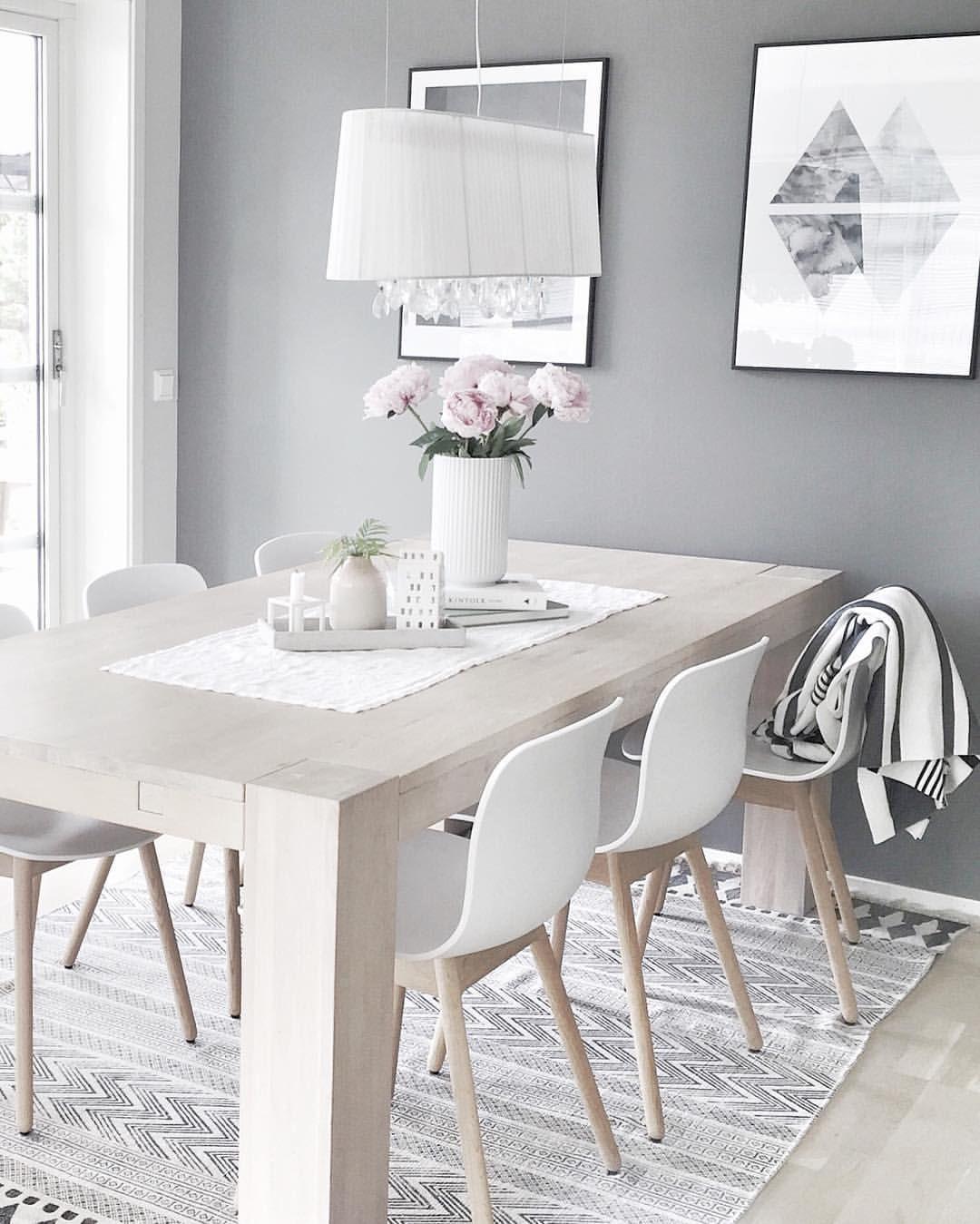 Home Sweet Home | Decor Inspiration | Interior Design | Scandinavian Home | Nordic Style | Dinning Room | Neutrals | Dining @moniithe