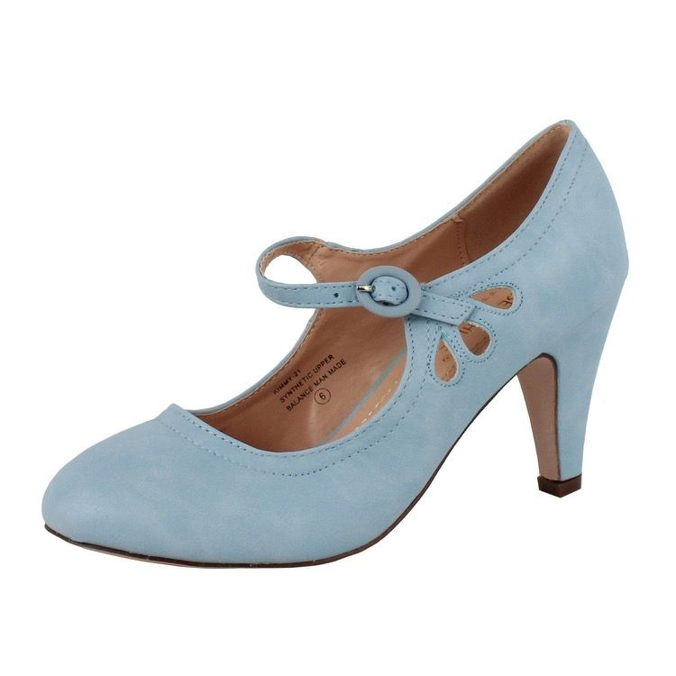 aedf187bee9 Pale Blue 1920s Mary Jane Shoes