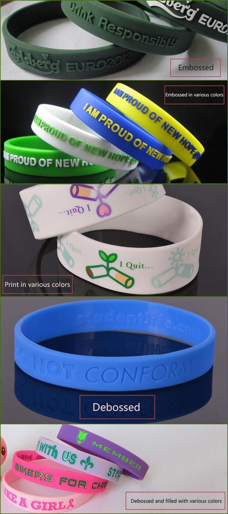 Best bracelet cheap gift items new silicone bracelet