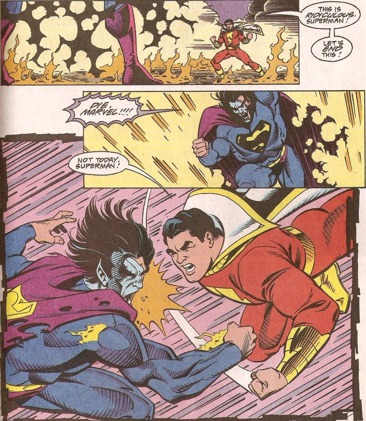 SuperMan vs. Captain Marvel | CrossOvers: HQ Legends