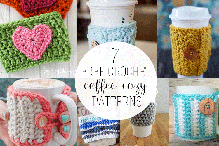 7 Free Crochet Coffee Cozy Patterns You Need to Try! | Pinterest