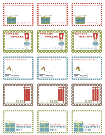Free Printable Holiday Labels by Inktreepress.com | Worldlabel Blog ...