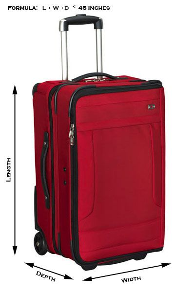 FAA carry on restrictions Small Bag - The total dimensions (length ...
