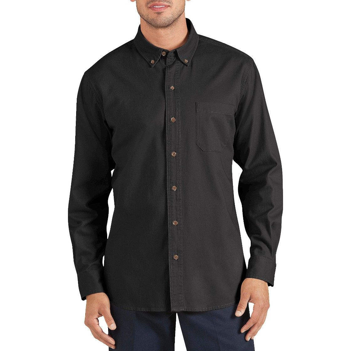 Wedding dress shirts for men  Dickies  Menus Regular Fit Cotton Twill Long Sleeve ButtonDown