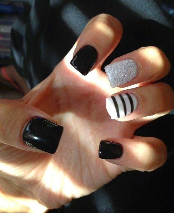 awesome Very Easy Black Nail Art trends for 2015 - Very Easy Black Nail Art Trends For 2015 Black Nail Art, Black