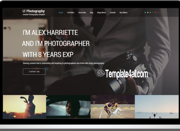 Joomla Templates Responsive Photography Theme Joomlatemplates