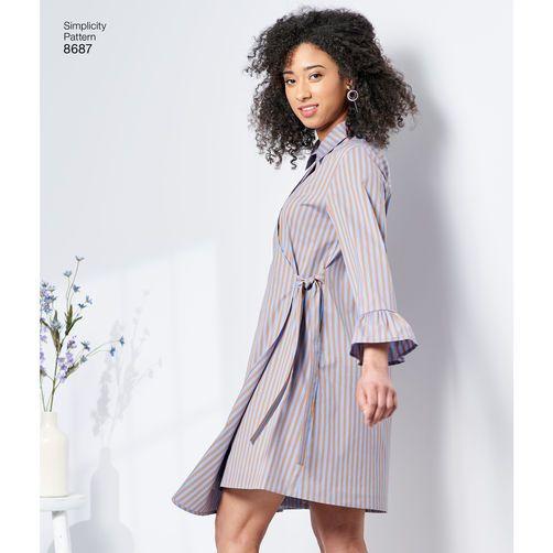 ea69e6e63d5 Simplicity Pattern 8687 Misses  Women s Shirt Dresses