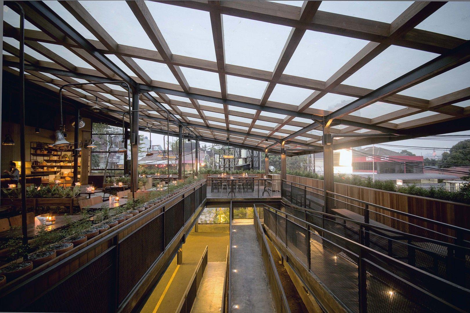 Industrial Staircase Beer Garden Jakarta Selatan