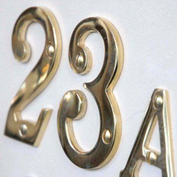 House Number Plaque, House Numbers And Letters U0026 French House Numbers