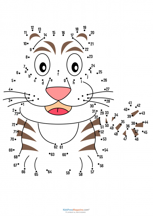 Connect The Dots Tiger Bulmaca Labirent Ve Sudoku
