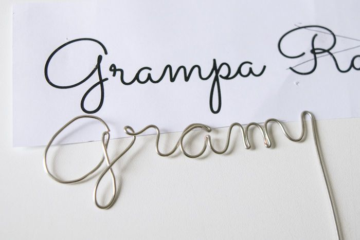 Wire Craft - Wrapping Wire to Make any Word or Name | Cursive, Wire ...