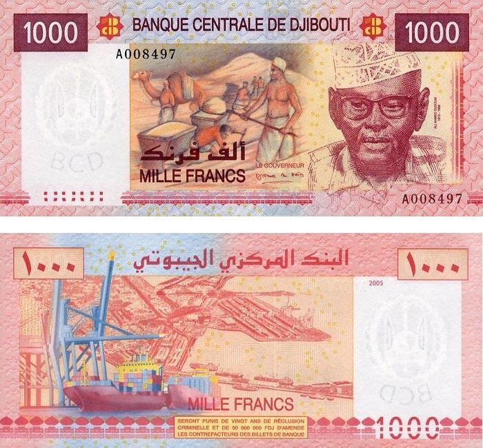 1000 francos Djibuti